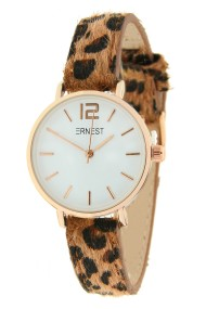 Ernest horloge Rosé-Cindy-Mini leopard bruin