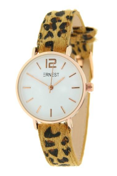 Ernest horloge Rosé-Cindy-Mini leopard camel