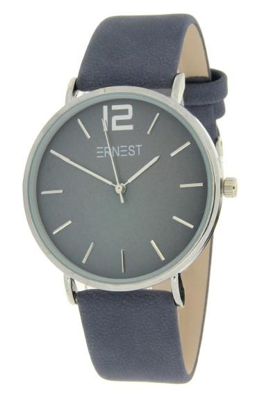 Ernest horloge Silver-Cindy-FW18 donker jeansblauw