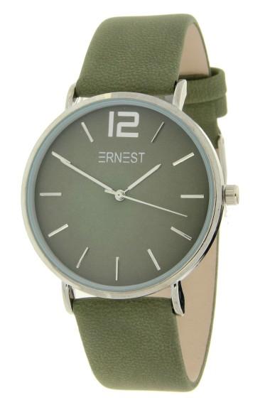 Ernest horloge Silver-Cindy-FW18 legergroen