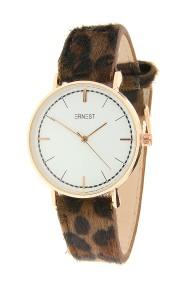 "Ernest horloge ""Rosé-Carla-Leopard"" bruin"