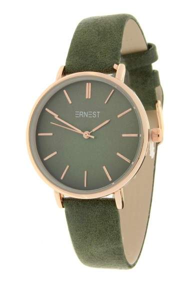 Ernest horloge Rosé-Cindy-Medium FW18 diepgroen