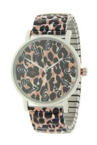 """Ernest horloge """"Leopardy"""" oudroze"""