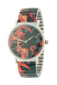 "Ernest horloge ""Tropical leafs"" oranje"
