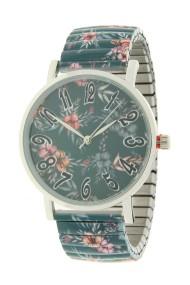 "Ernest horloge ""Flowermix"" zeegroen"