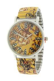 "Ernest horloge ""Flowermix"" mostard"