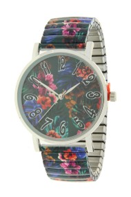 "Ernest horloge ""Flowermix"" blauw-groen"