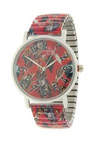 "Ernest horloge ""Flowermix"" rood"
