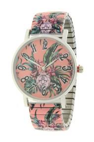 "Ernest horloge ""Flowermix"" zalm"