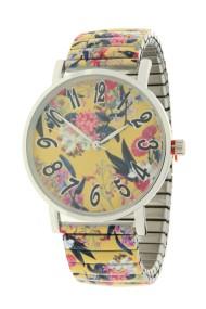 "Ernest horloge ""Flowermix"" geel"