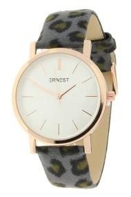 """Ernest horloge """"Rosé-Andrea-Leopard"""" grijs"""