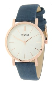 """Ernest horloge """"Rosé-Andrea"""" blauw"""