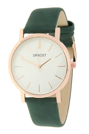 "Ernest horloge ""Rosé-Andrea"" donkergroen"