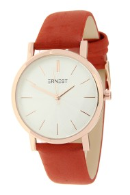 """Ernest horloge """"Rosé-Andrea"""" brick"""