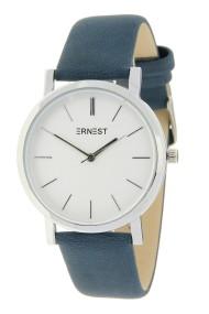 "Ernest horloge ""Silver-Andrea"" blauw"