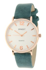 """Ernest horloge """"Rosé-Misty"""" zeegroen"""