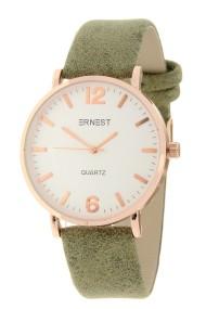"""Ernest horloge """"Rosé-Misty"""" olijfgroen"""
