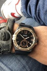 """Ernest horloge """"Cooper"""" zwart-rose"""