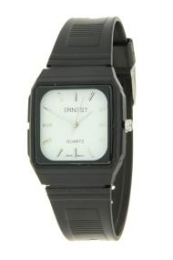 """Ernest horloge """"80's vintage"""" zwart-wit"""