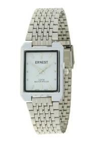 "Ernest horloge ""Clasica"" zilver-wit"