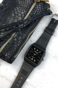 """Ernest horloge """"80's vintage"""" zwart-zwart"""