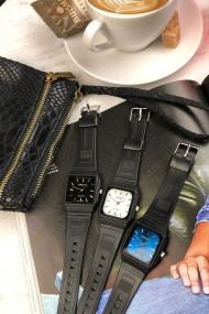 """Ernest horloge """"80's vintage"""" zwart-blauw"""