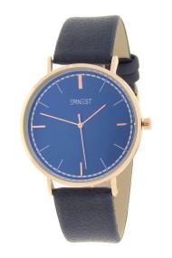 """Ernest horloge """"Rosé Lisa Large"""" donkerblauw"""