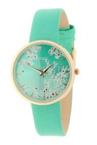 """Ernest horloge """"Rosé-Blossom"""" turquoise"""