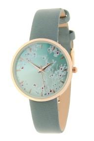 "Ernest horloge ""Rosé-Blossom"" jeansblauw"