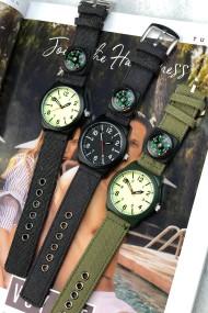 """Ernest herenhorloge """"Compass"""" zwart-zwart"""