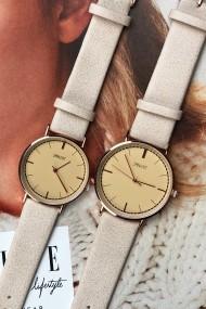 """Ernest horloge """"Rosé Lisa Large"""" beige"""