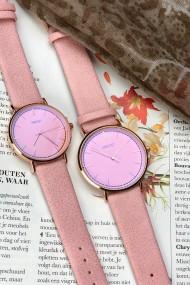 """Ernest horloge """"Rosé Lisa Large"""" lichtroze"""