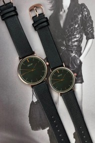 """Ernest horloge """"Rosé Lisa Large"""" zwart"""