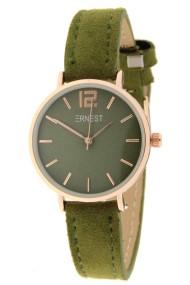 Ernest horloge Rosé-Cindy-Mini SS-18 donkergroen