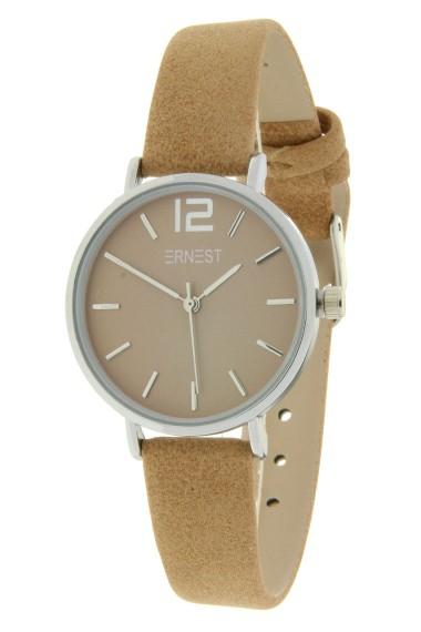 Ernest horloge Silver-Cindy-Mini SS19 lichtbruin