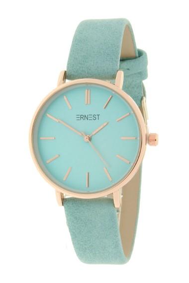 Ernest horloge Rosé-Cindy-Medium SS19 zacht turquoise