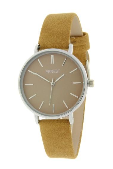 Ernest horloge Silver-Cindy-Medium SS19 lichtbruin
