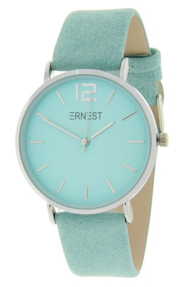 Ernest horloge Silver-Cindy-SS19 zacht turquoise