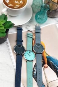 Ernest horloge Silver-Cindy-SS19 blauw