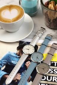 """Ernest horloge """"Nox"""" zilver-lichtgrijs"""