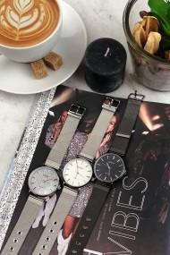 """Ernest horloge """"Grace"""" zilver-glitter"""