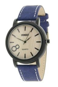 """Ernest horloge """"It's 8 Oclock!"""" blauw"""