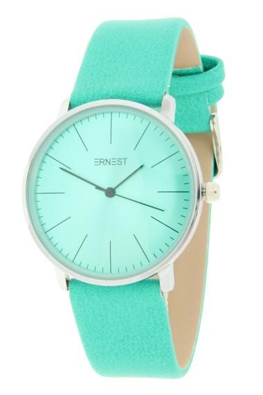 """Ernest horloge """"Denmark"""" turquoise"""