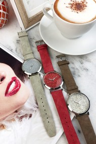 "Ernest horloge ""Nicola"" rood"
