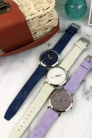 "Ernest horloge ""Nicola"" donkerblauw"
