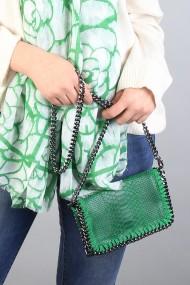 """Lederen snake tas """"Vivienne"""" groen"""