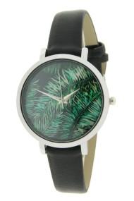 """Ernest horloge """"Coco-Leaf"""" zwart"""