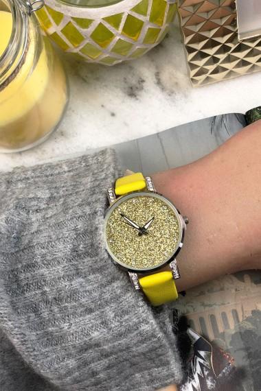 "Ernest horloge ""Livia"" geel"
