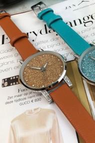 """Ernest horloge """"Livia"""" camel"""