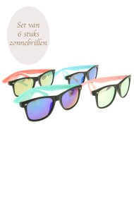 "Zonnebril ""Mixed color"" set van 6"